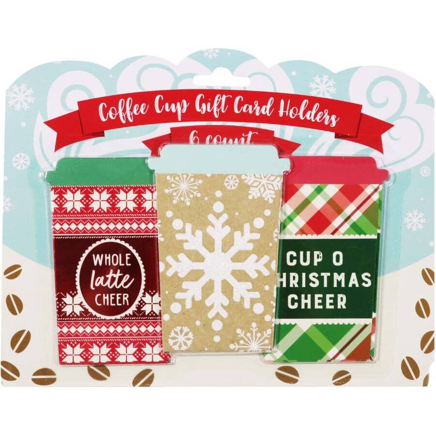 SANTALAND:6 Pack Christmas Gift Card Holder - Assorted Designs