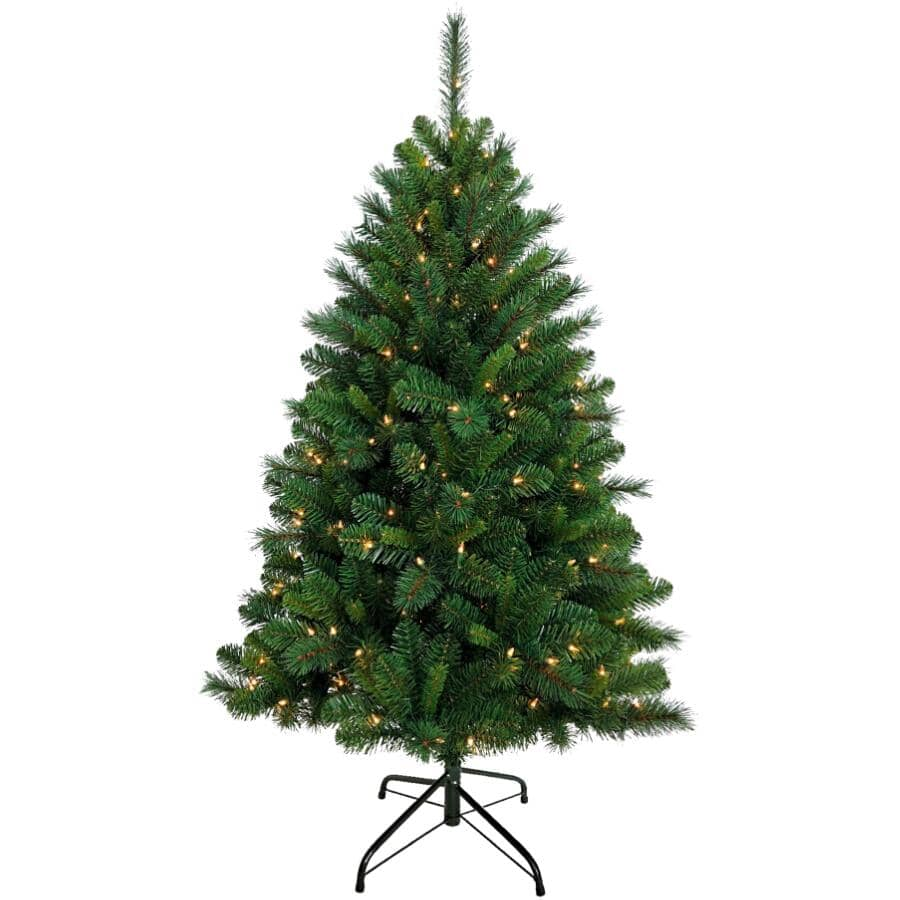 INSTYLE HOLIDAY:5' Calgary Christmas Tree - with 200 LED Warm White + Multi Lights