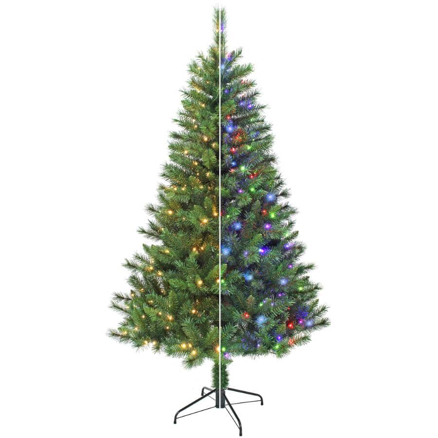 INSTYLE HOLIDAY:6.5' Scotch Pine Christmas Tree - with 250 Colour Changing LED Lights