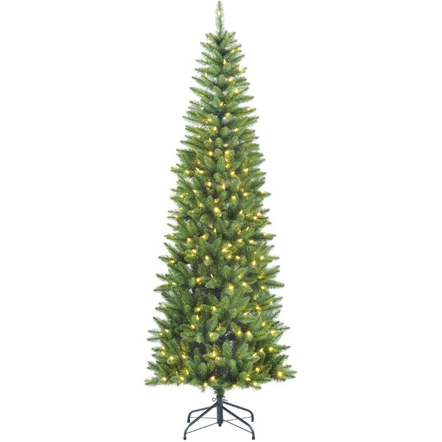 INSTYLE HOLIDAY:7' Jasper Fir Pencil Christmas Tree - with 300 LED Lights