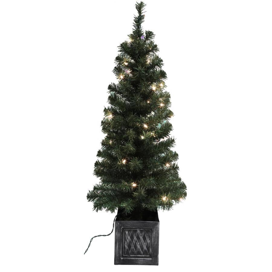 INSTYLE HOLIDAY:3.5' Potted Tree, with 35 Clear Lights