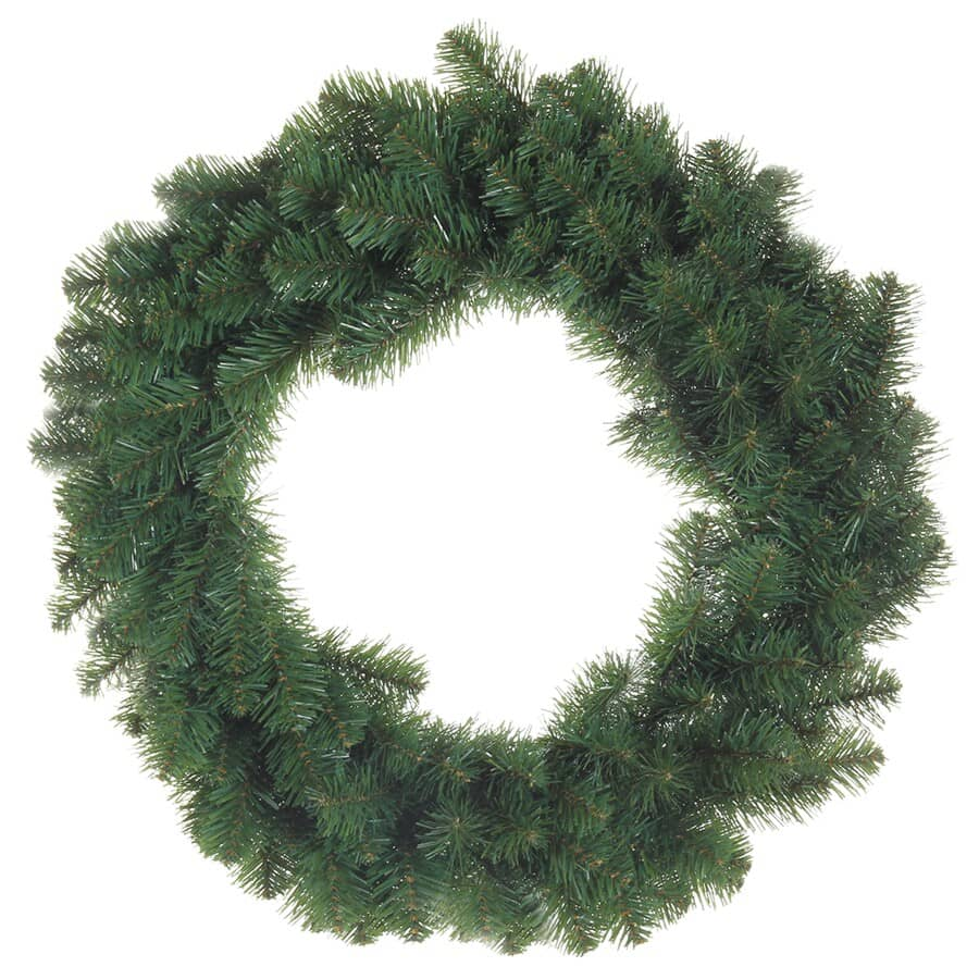 """INSTYLE HOLIDAY:24"""" 160 Tip PVC Pine Wreath"""