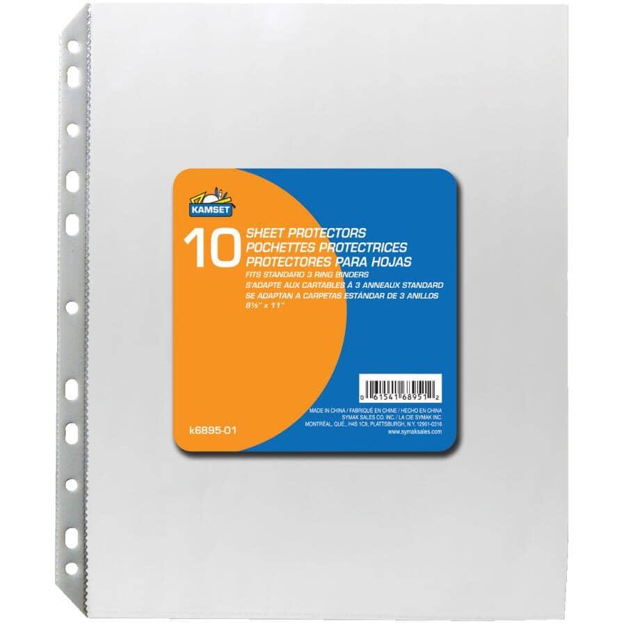 KAMSET:Sheet Protectors - 10 Pack