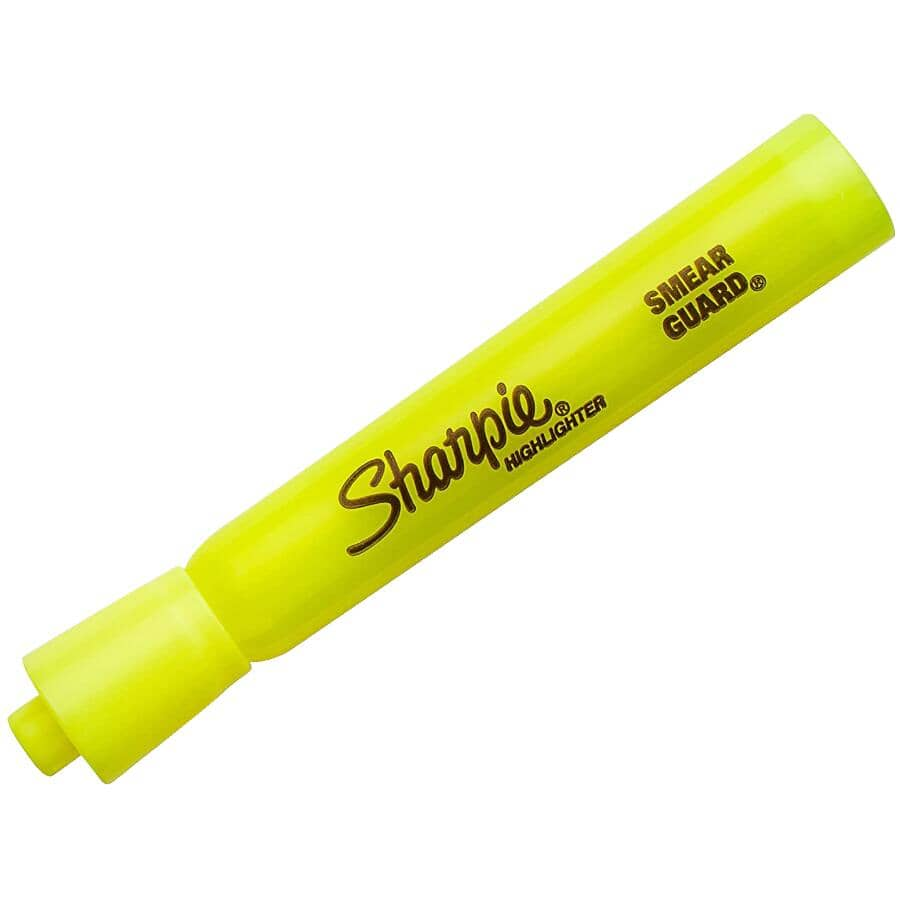 SHARPIE:Smear Guard Highlighters - Yellow, 2 Pack