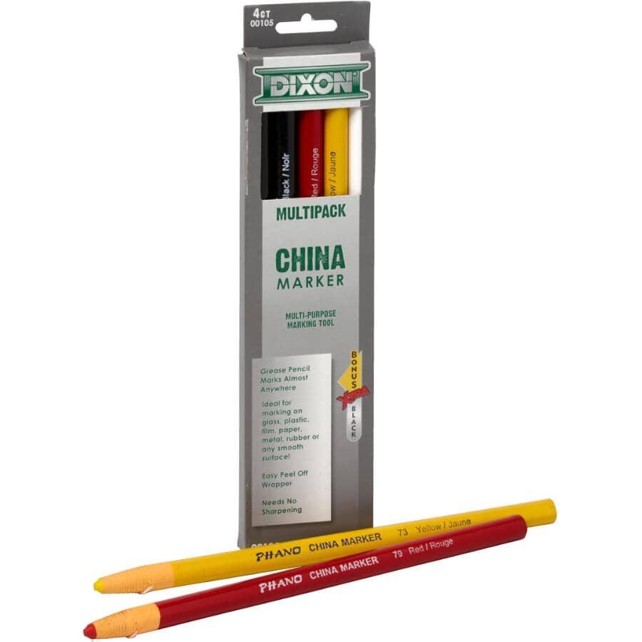 DIXON:Paquet de 4 crayons gras pour marquage tout-usage