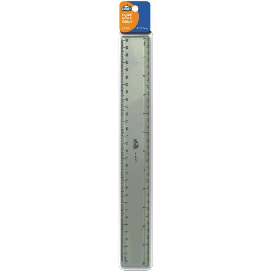 """KAMSET:Plastic Ruler - 12"""""""