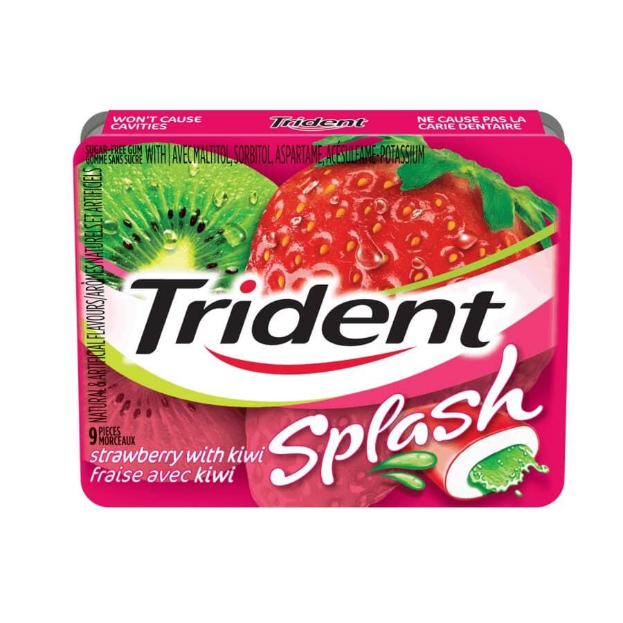 TRIDENT:Strawberry Kiwi Splash Gum - 9 Pieces