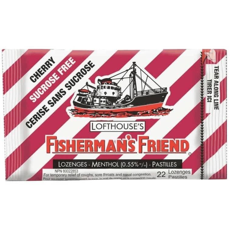 FISHERMAN'S FRIEND:Sugar Free Cough Drops - Cherry, 22 Pieces