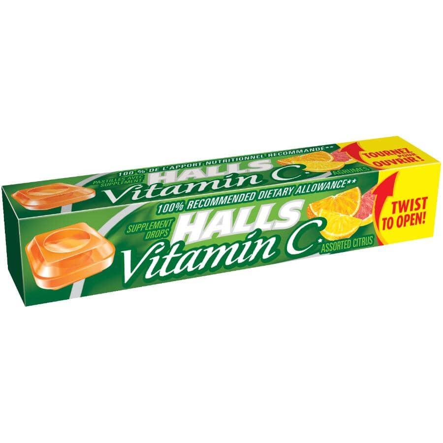 HALLS:Cough Drops - with Vitamin C Citrus Centres, 9 Pieces