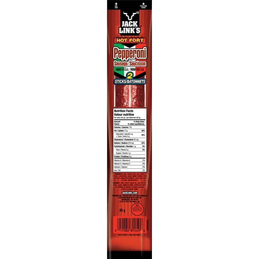 JACK LINKS:Hot Pepperoni Sticks - 80 g