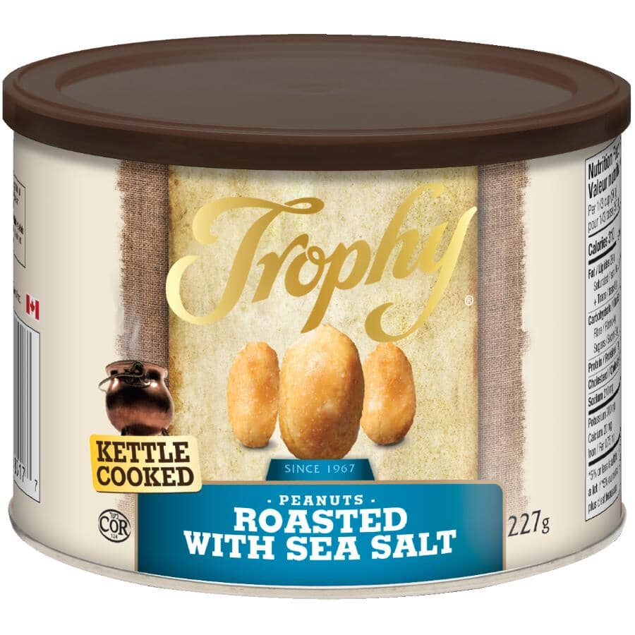 TROPHY:Kettle Cooked Cashews - Roasted with Sea Salt, 227 g