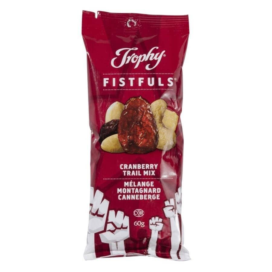 TROPHY:Fistfuls Cranberry Trail Mix - 60 g