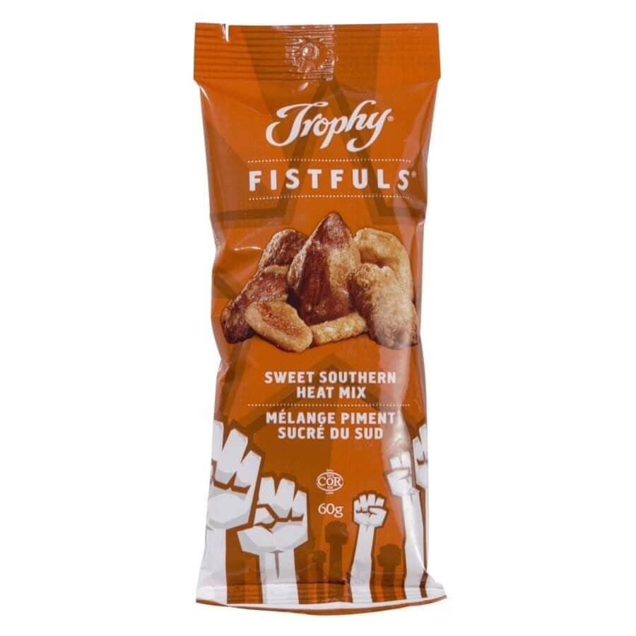 TROPHY:Fistfuls Sweet Southern Heat Peanuts - 60 g