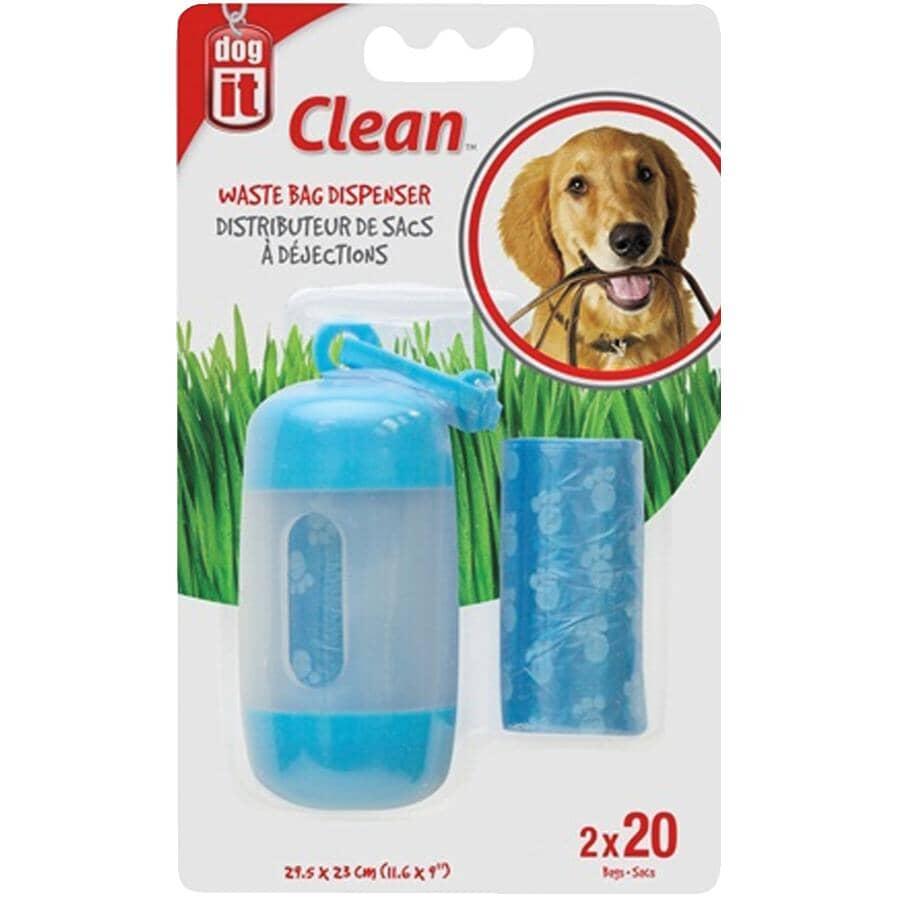 DOG IT:Distributeur de sacs pour excréments de chien, avec 40 sacs