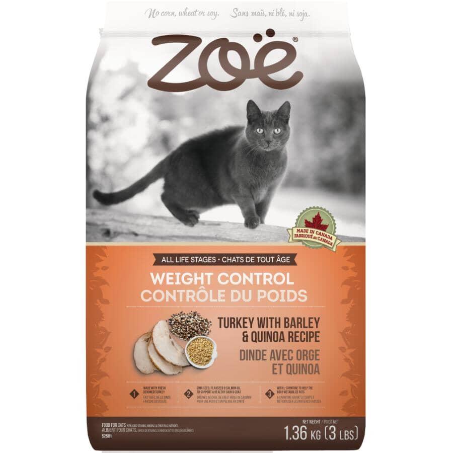 ZOE:Weight Control Dry Cat Food - Turkey with Barley & Quinoa Recipe, 1.36 kg