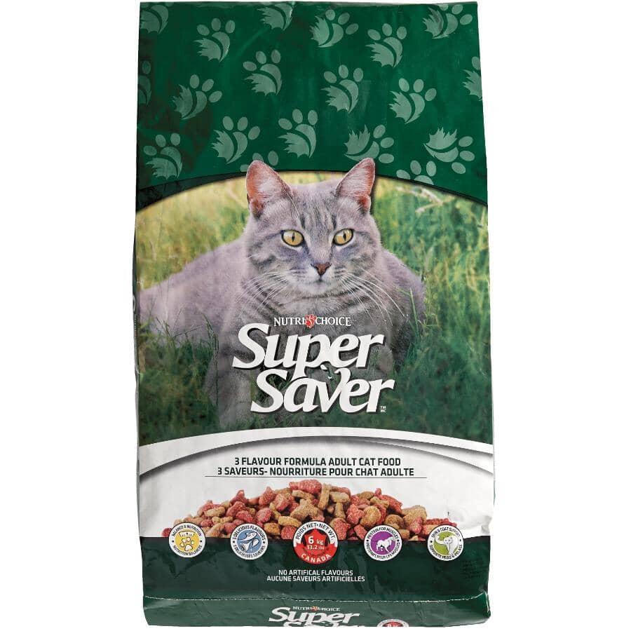 NUTRI-CHOICE:Super Saver Dry Cat Food - 3 Flavour Formula, 6 kg