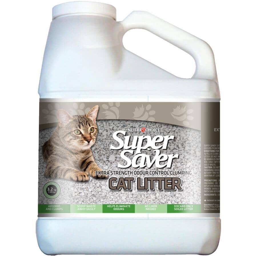 NUTRI-CHOICE:Litière agglutinante Super Saver, contrôle des odeurs super puissant, 3,2 kg