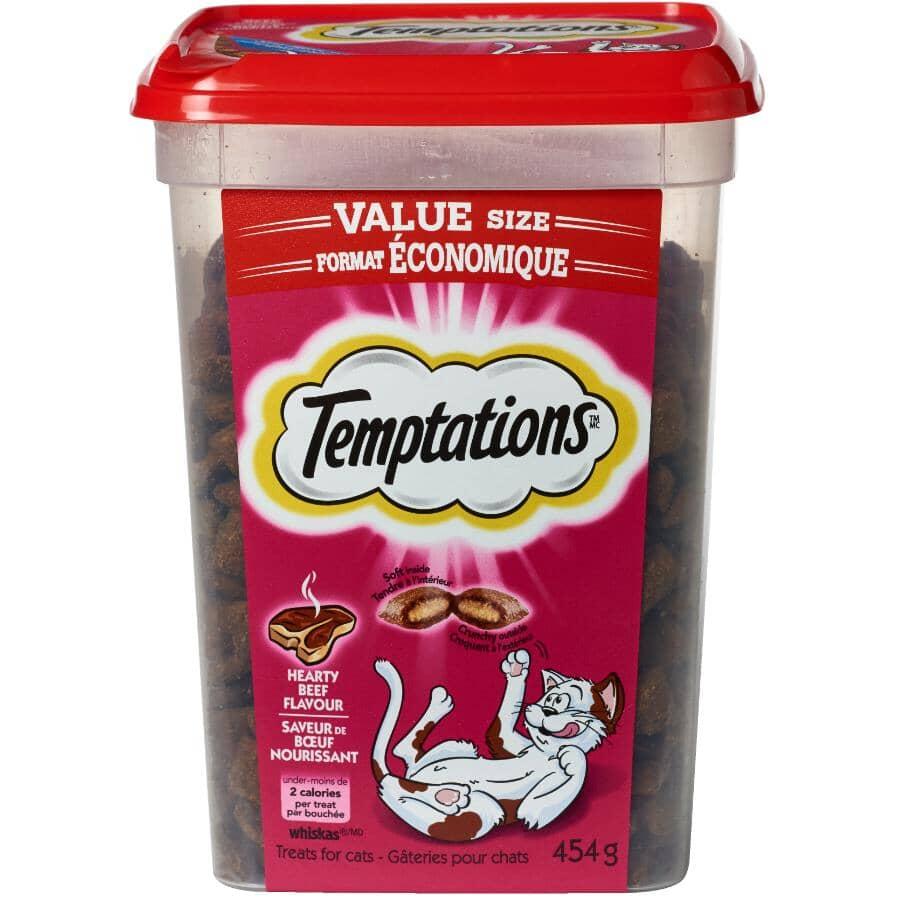 WHISKAS:Temptations Cat Treats - Beef, 454 g