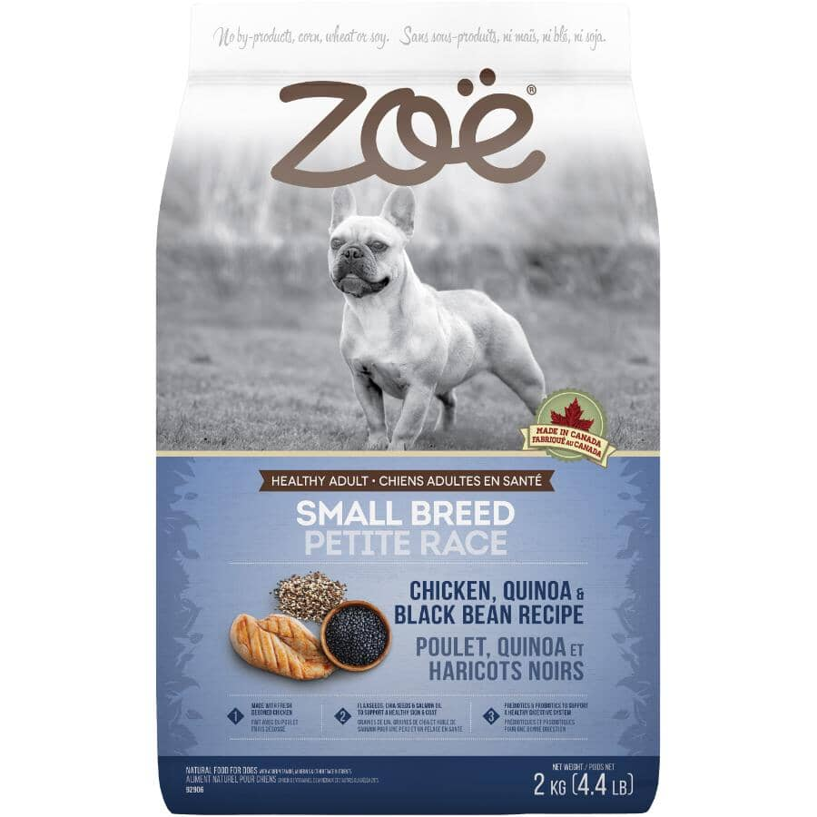 ZOE:Small Breed Dry Dog Food - Chicken, Quinoa & Black Been Recipe, 2 kg
