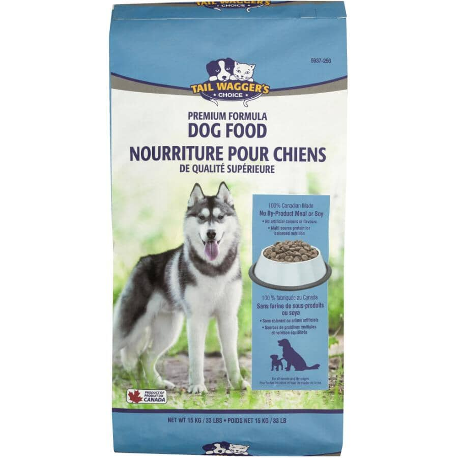 TAIL WAGGER'S CHOICE:Premium Formula Dry Dog Food - for All Dogs, 15 kg