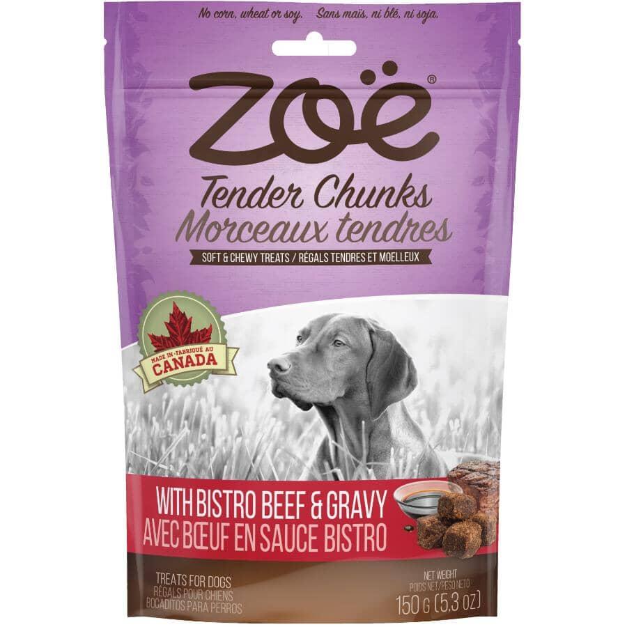 ZOE:Tender Chunks Soft & Chewy Dog Treats - with Bistro Beef & Gravy, 150 g