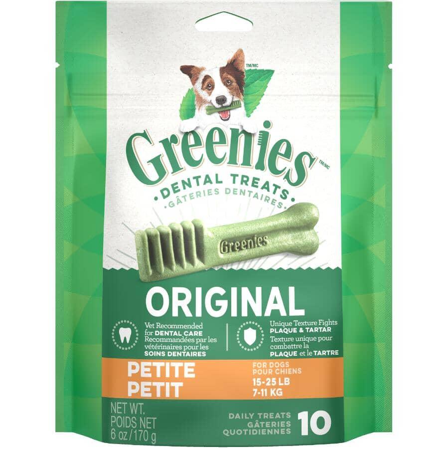 GREENIES:Dental Chew Dog Treats - for Petite Size Dogs, 6 oz