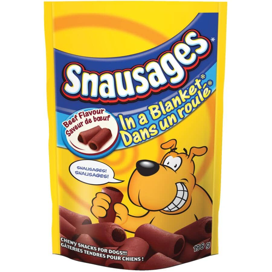 SNAUSAGES:in Blanket Dog Treats - Beef Flavour, 196 g