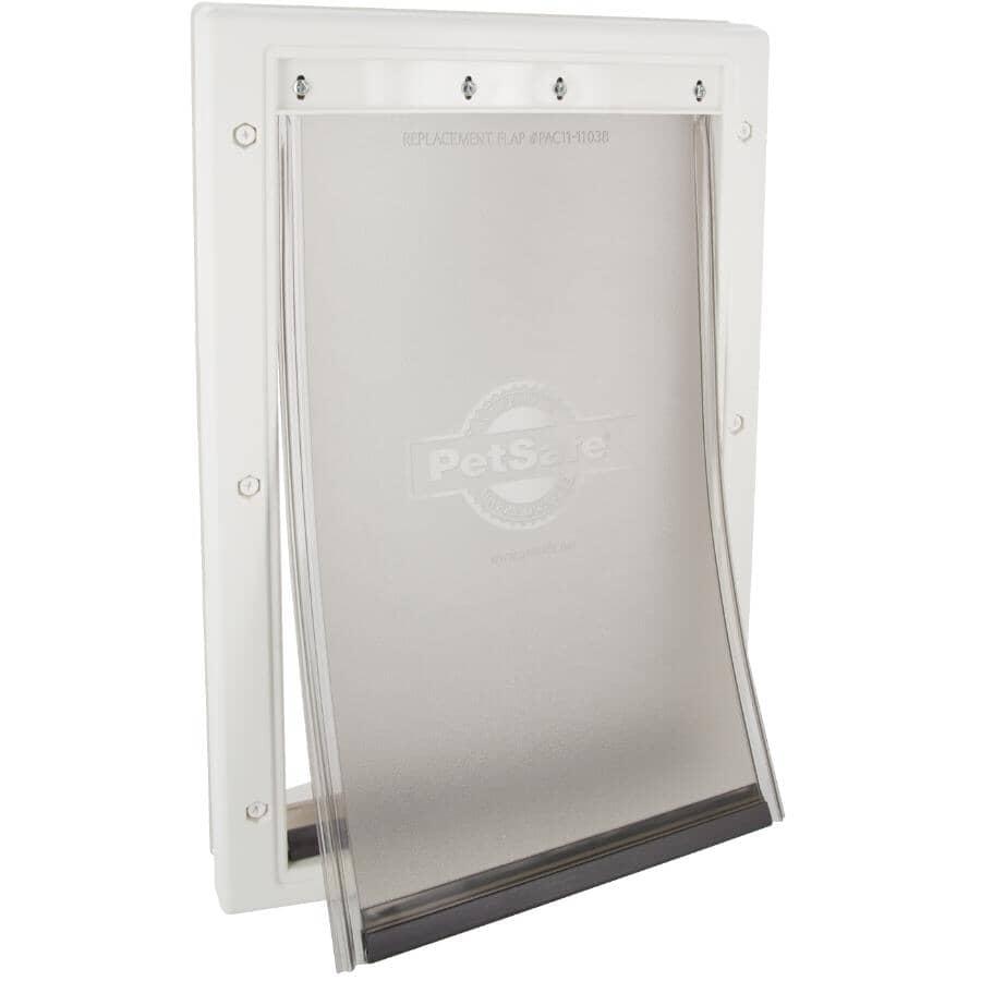 PETSAFE:Plastic Pet Door - Medium, White