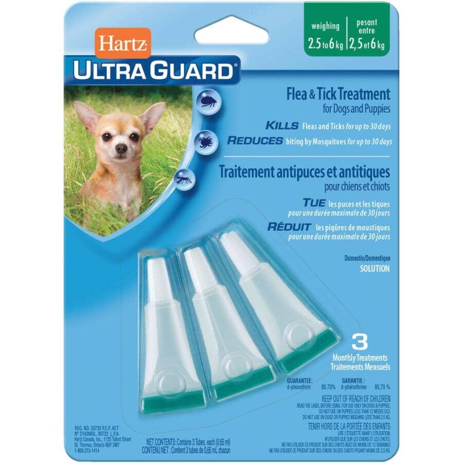 HARTZ:Ultra Guard Flea & Tick Drop Treatment - for Dogs & Puppies 2.5 kg - 6 kg