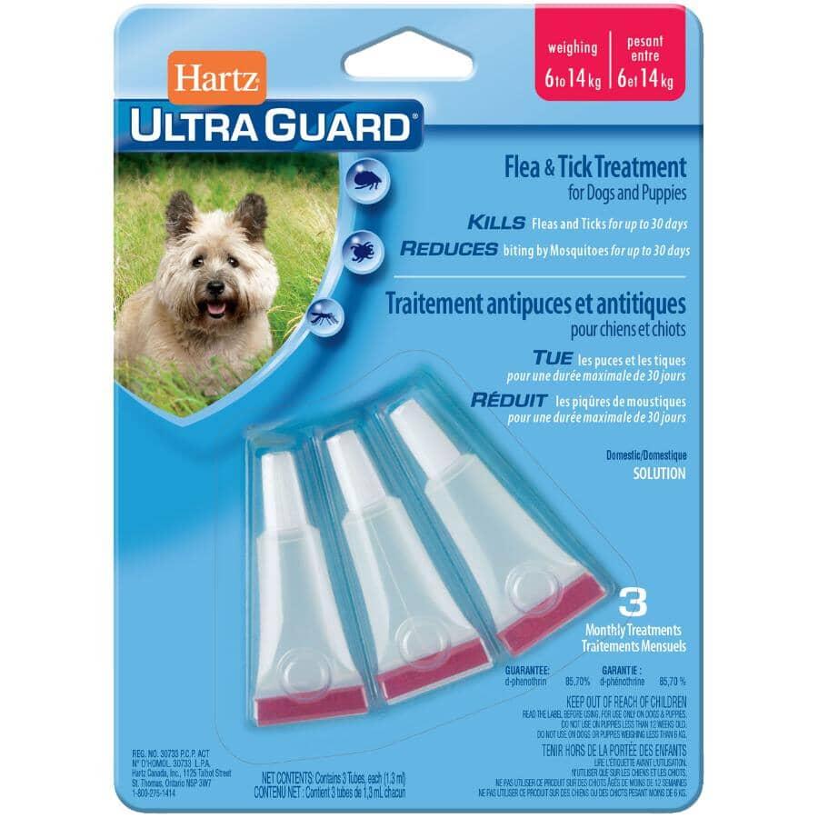 HARTZ:Gouttes anti-puces et tiques Ultra Guard pour chien de 6 à 14 kg