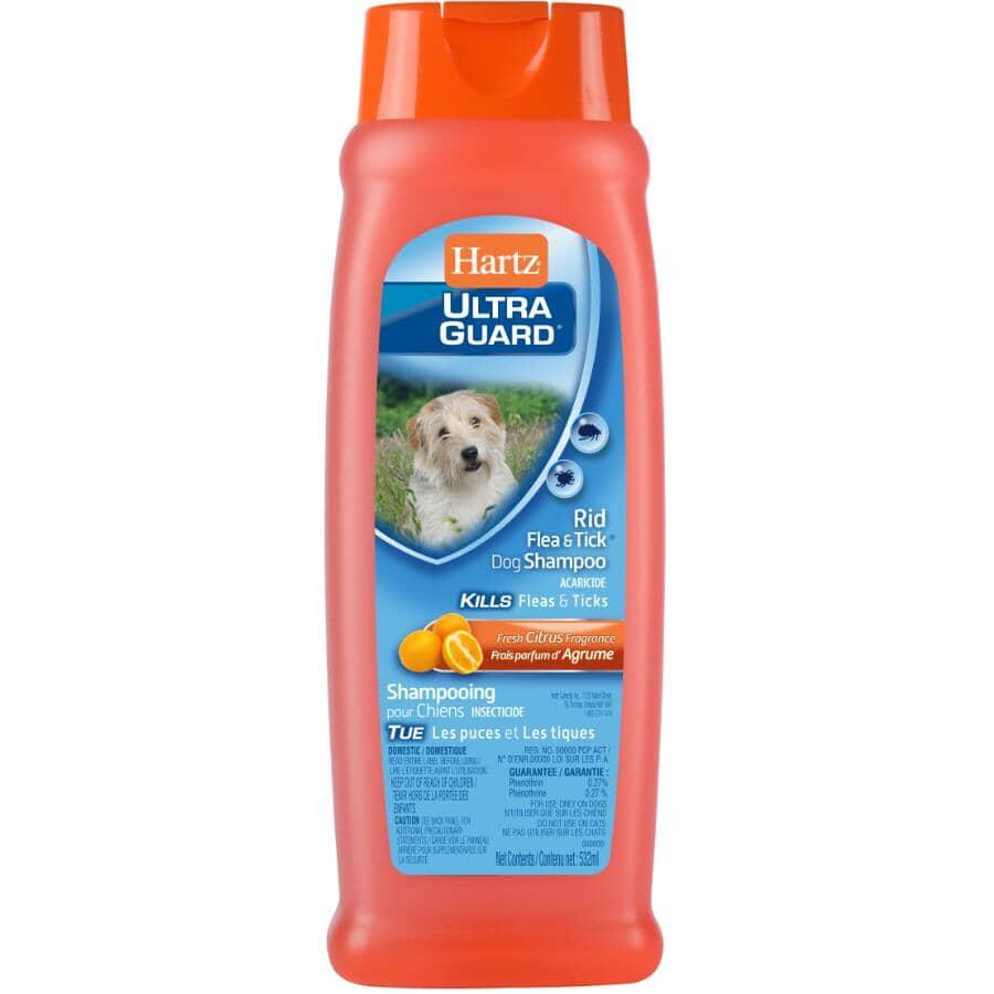 HARTZ:Shampooing anti-puces et tiques Ultra Guard pour chien de 532 ml, agrumes