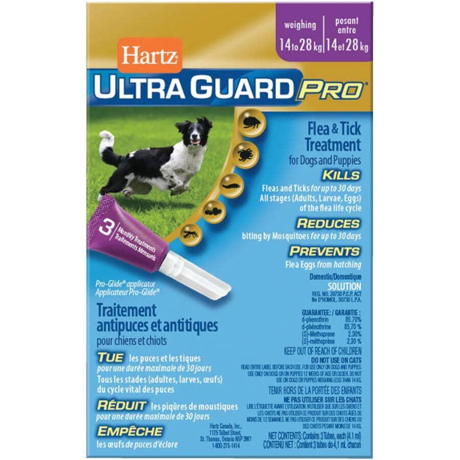 HARTZ:Gouttes anti-puces et tiques Ultra Guard Pro pour chien, 14 à 28 kg