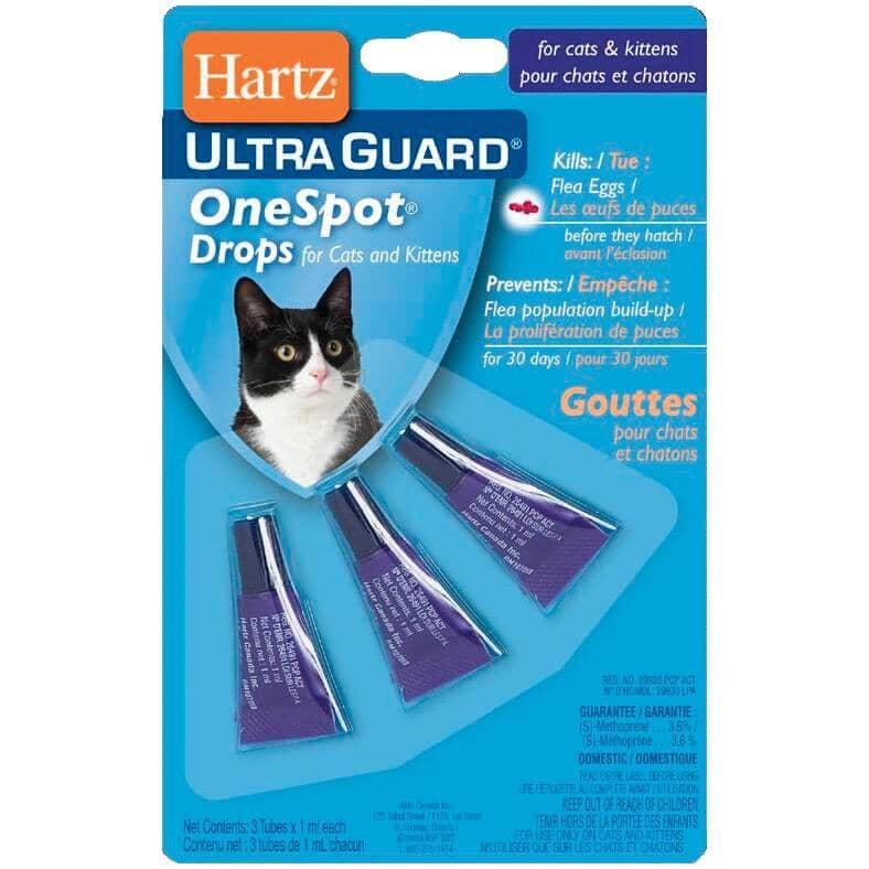 HARTZ:Flea One Spot Drops Cat Treatment - 3 Pack