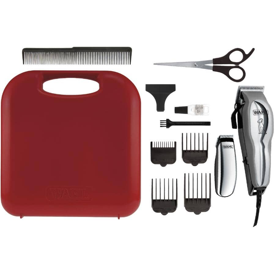 WAHL:Chrome Pro Pet Clipper Grooming Kit - 12 Pieces