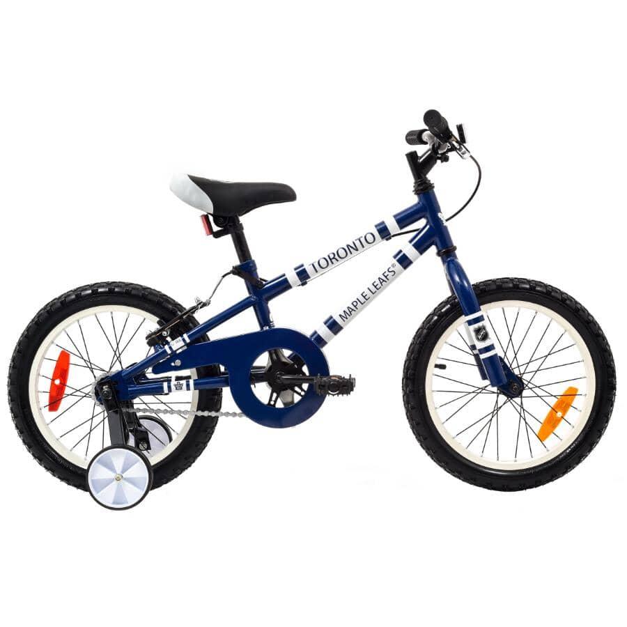 "FUN RIDE BIKES:Maple Leafs 16"" Toddler Training Bike - Blue"