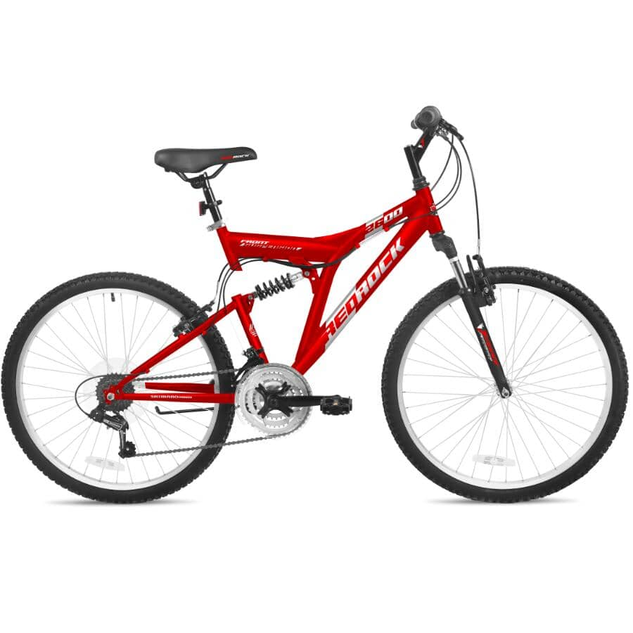 "STONERIDGE:26"" Red Rock Unisex Bike - Red"