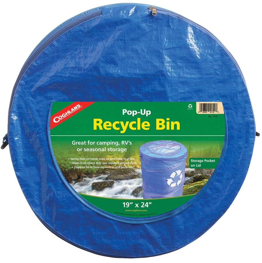 "COGHLAN'S:18"" x 24"" Blue Pop-Up Recycle Bin"