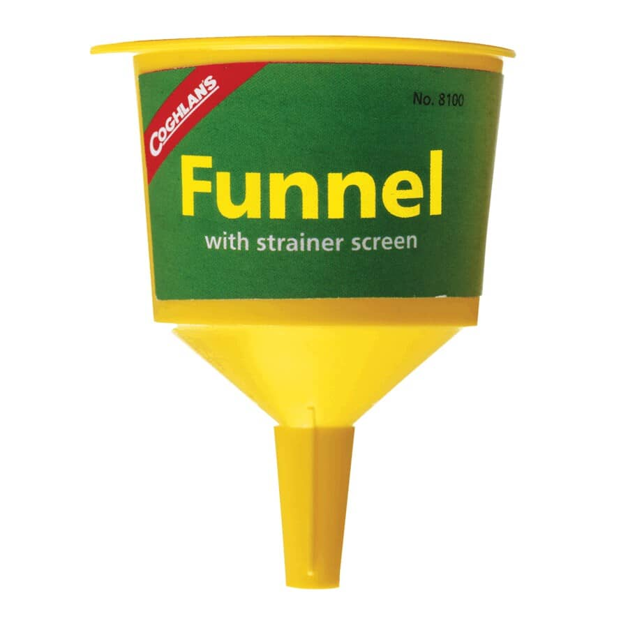 COGHLAN'S:Plastic Funnel - with Strainer Screen