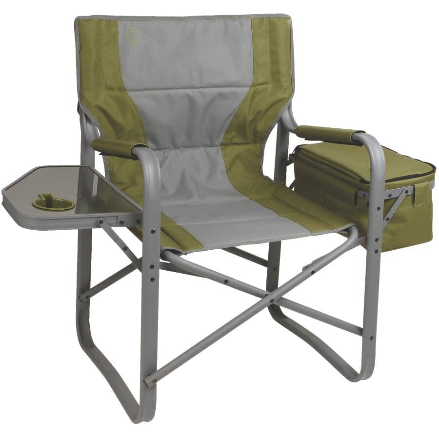 COLEMAN:Aluminum Directors Camping Chair, with Side Table and Cooler