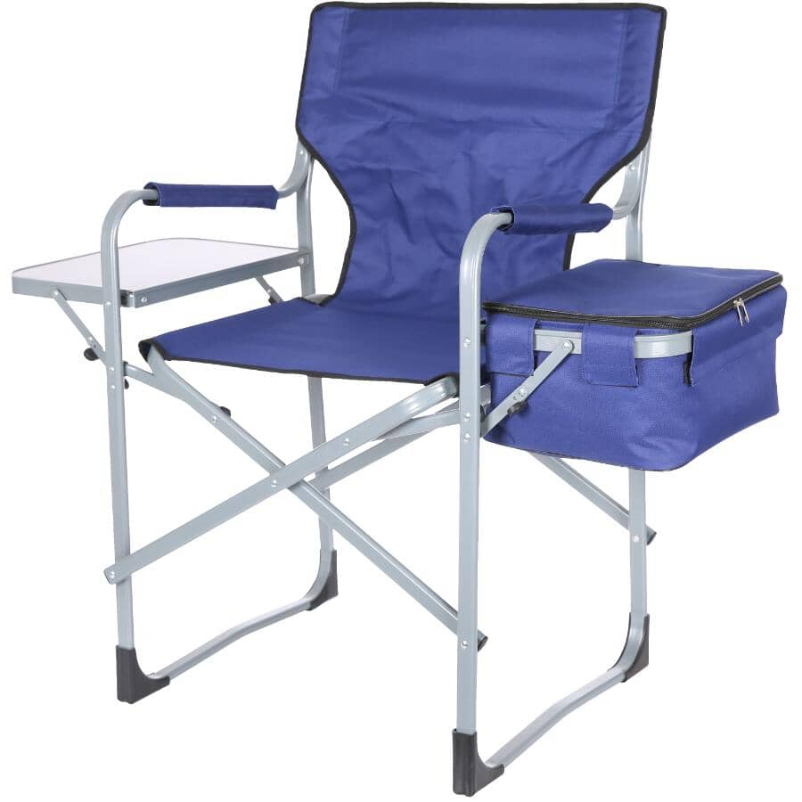 RIVER TRAIL:Aluminum Directors Camping Chair, with Side Table and Cooler