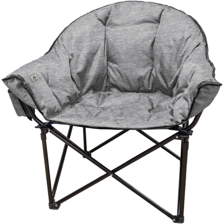 KUMA OUTDOOR GEAR:Heather Grey Adult Lazy Bear Camp Chair