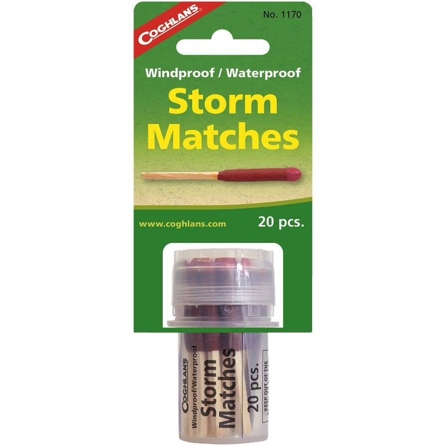 COGHLAN'S:20 Piece Waterproof and Windproof Matches