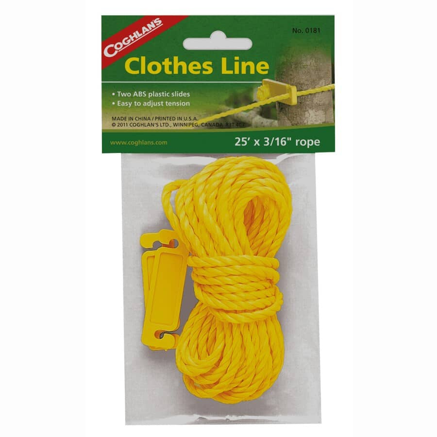 COGHLAN'S:25' Poly Camping Clothesline