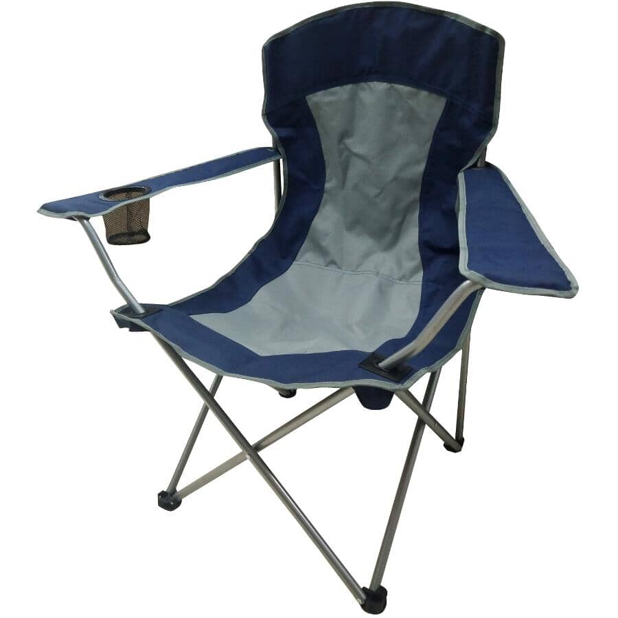 RIVER TRAIL:Blue/Grey Adult Camping Chair