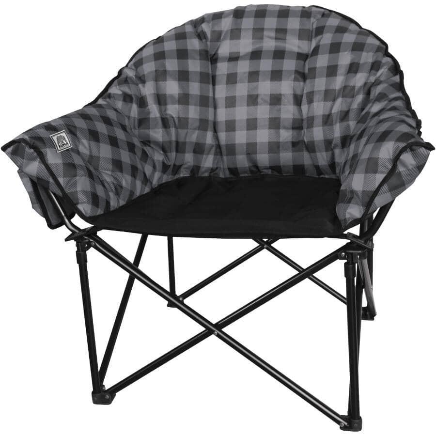KUMA OUTDOOR GEAR:Black/Grey Adult Lazy Bear Camping Chair