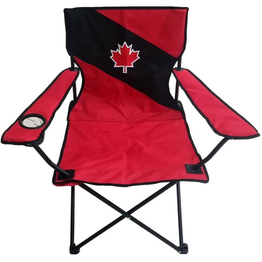 RIVER TRAIL:Red/Black Canada Day Kids Camp Chair