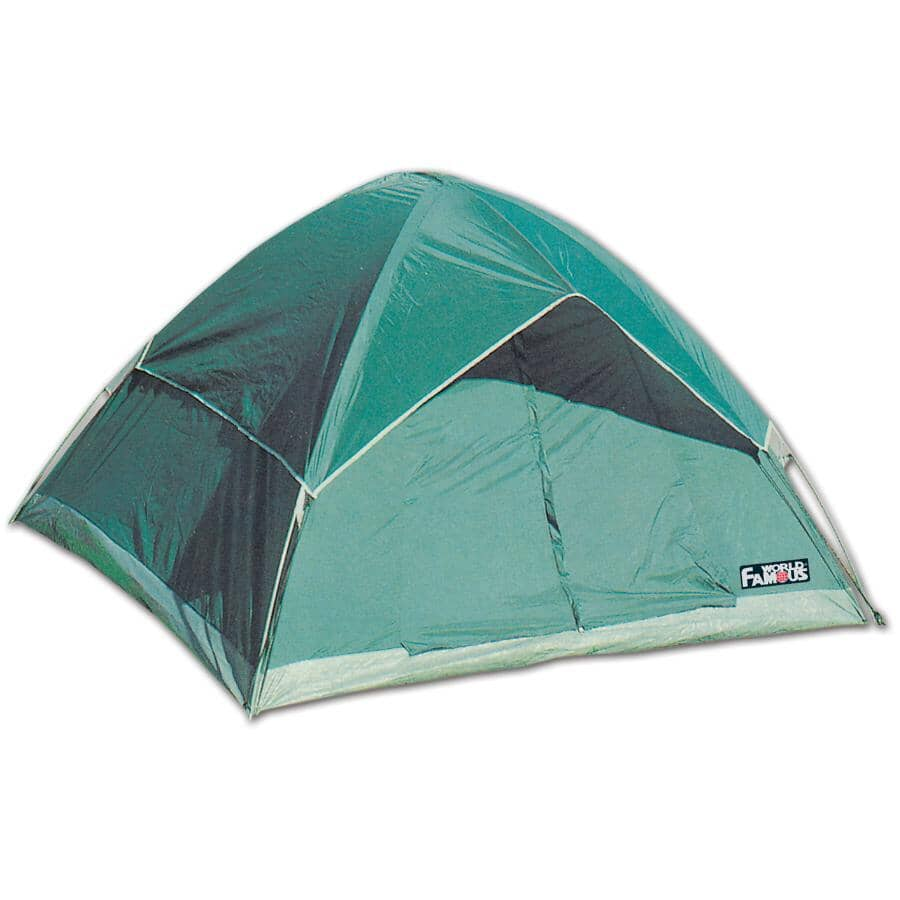 WORLD FAMOUS:6.5' x 6.5' x 4' 3 Person Dome Tent