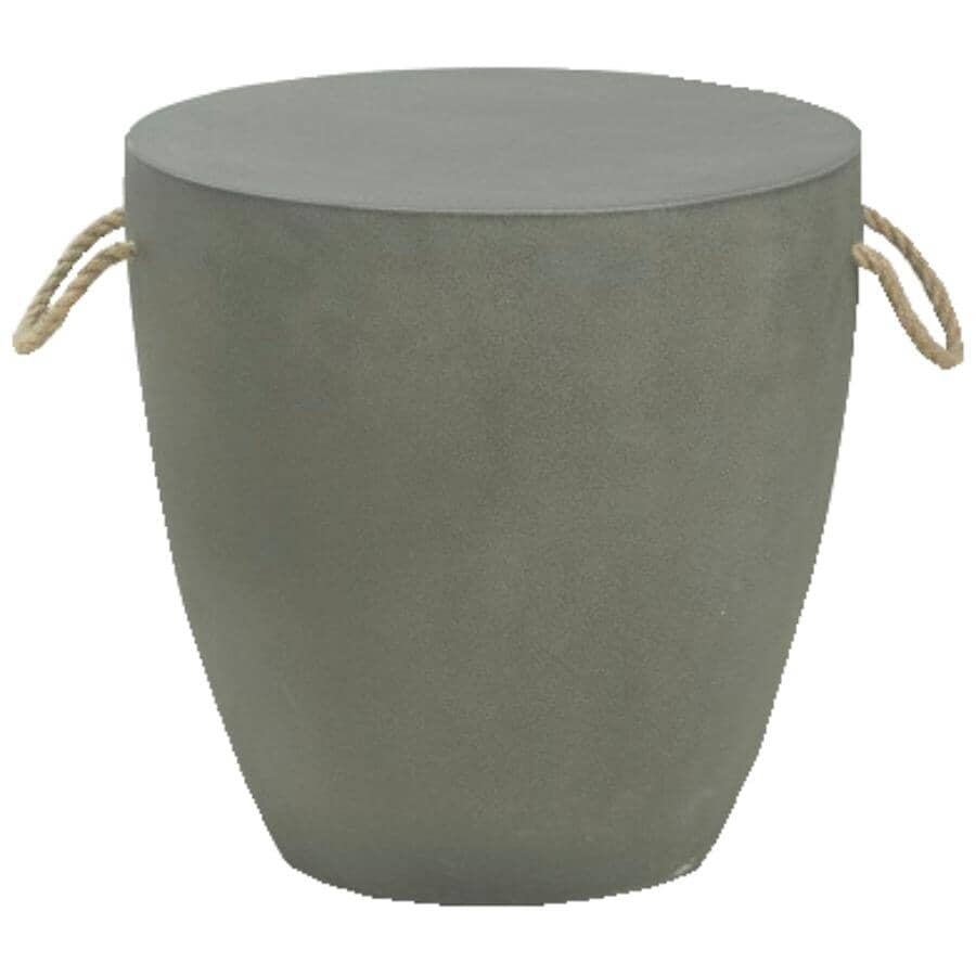 INSTYLE OUTDOOR:Grey Cement Side Table, with Handles