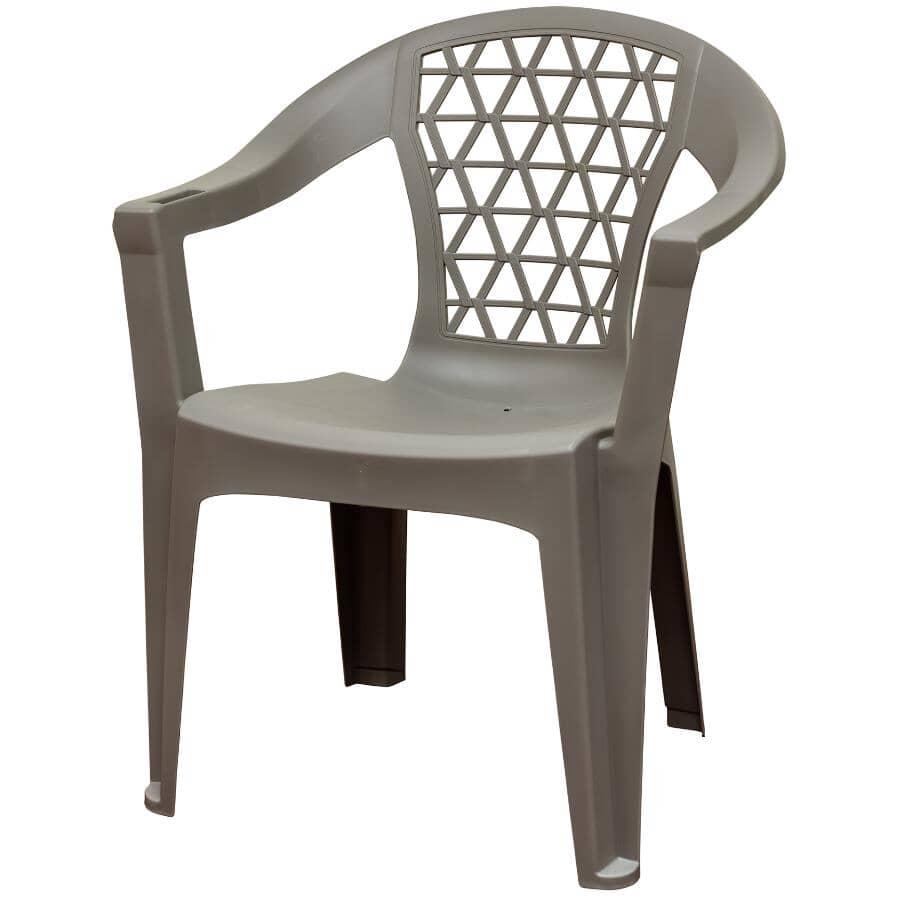 ADAMS:Grey Resin Stacking Chair
