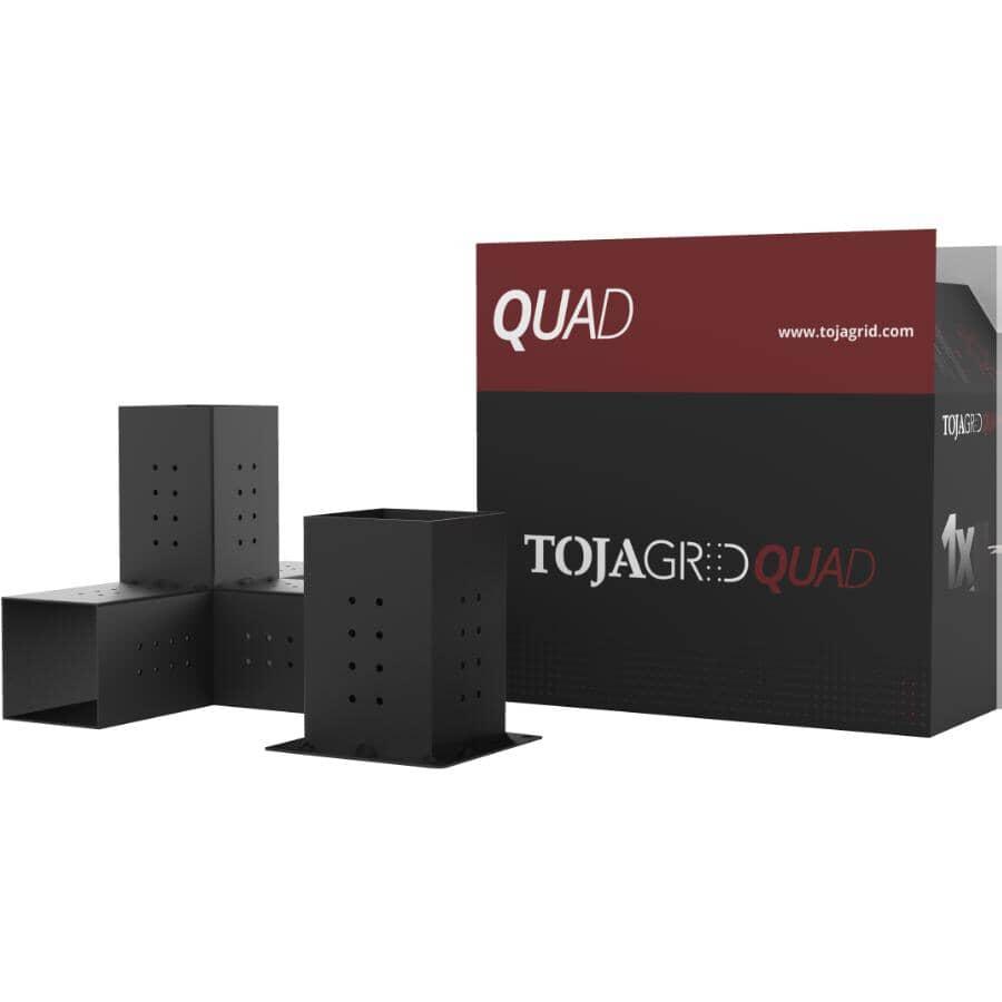 TOJAGRID:Fixations de jonction pour pergola Quad et base Solo pour montants en bois de 6 x 6 po, 2 pièces
